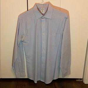 Brooks Brothers Blue Check Dress Shirt (15.5/34)